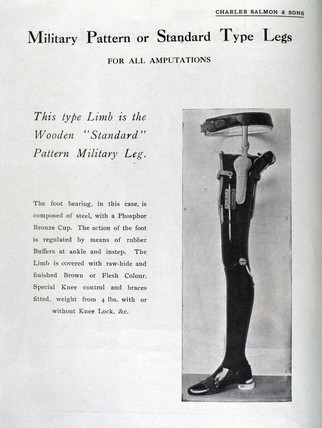 'Military Pattern or Standard Type Legs', 1920-1930.