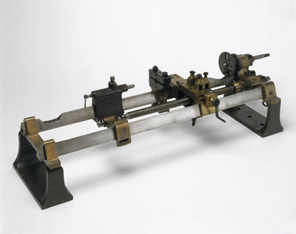 Henry Maudslay's original screw-cutting lathe, c 1800.