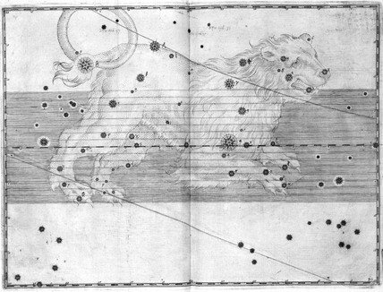 The constellation Leo, 1603.