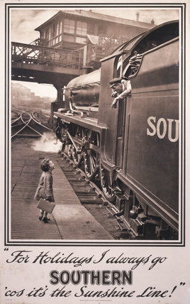 For Holidays I always go Southern, 'cos it's the Sunshine Line!', c 1925.