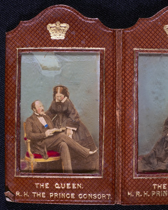 Queen Victoria and Prince Albert, c 1850s.