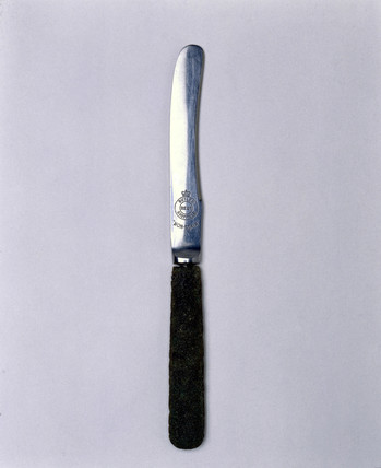 Early stainles steel tea knife, c 1915.