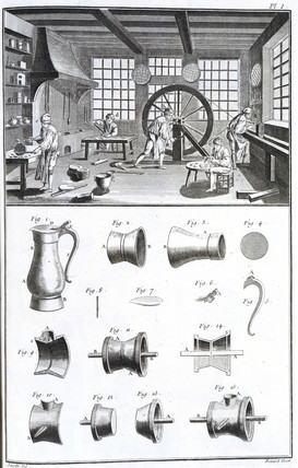 Pewter-making, 1751-1765.