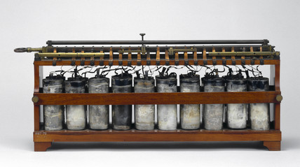 Plante rechargeable battery, c 1860.