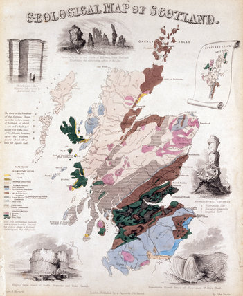 'Geological map of Scotland', c 1850.