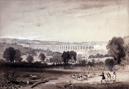The Ouse Valley Viaduct on the London & Brighton Railway, mid 19th century.