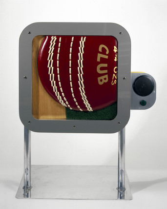 Cricket exhibit from the 'Chelsea World of Sport' exhibition, London, 2001.