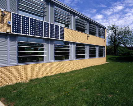 Small Photovoltaic array, Buckinghamshire, May 2001.