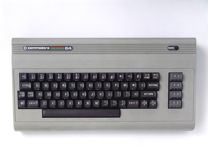 Commodore 64 microcomputer, c 1985.