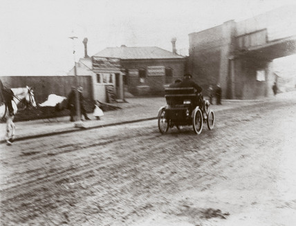 C S Rolls driving his Peugeot during the Commemoration Run, 1901.