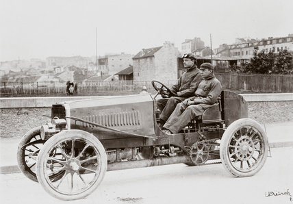 C S Rolls' Panhard Racer, Paris-Madrid Race, 1903