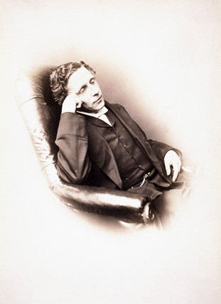 Lewis Carroll, English author, self-portrait, c 1860s.