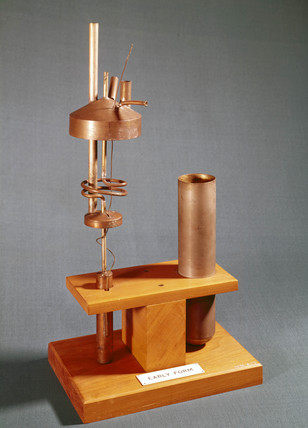 Early helium liquefier, c 1932-1936.