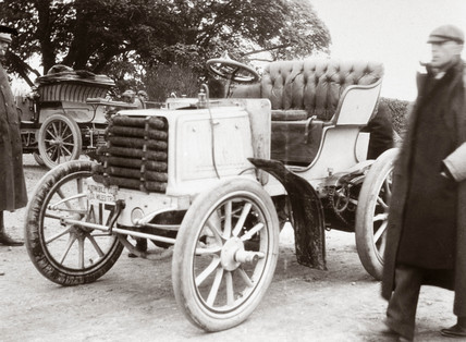 Roll's 12 hp Panhard motor car on the 1000 Miles Trial, 1900.