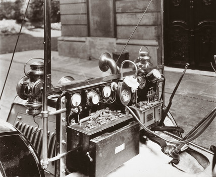 Dashboard of C S Rolls's 10 hp Panhard motor car, 1903.