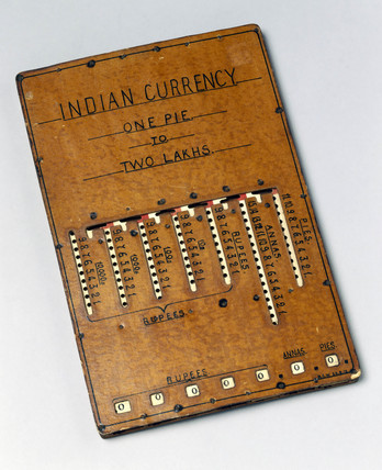 GEM calculator converted for Indian currency, 1912.