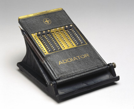 'Addiator' calculating machine, c 1924.
