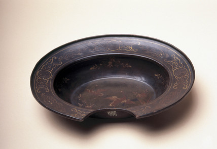 Barber's shaving bowl, c 1751-1850.