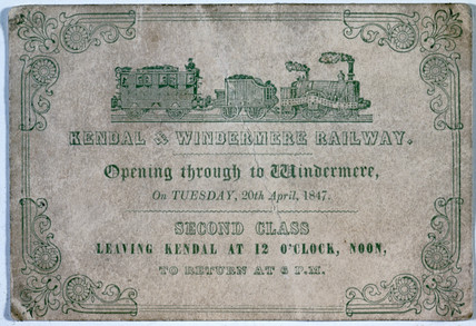 Second clas rail ticket, 1847.