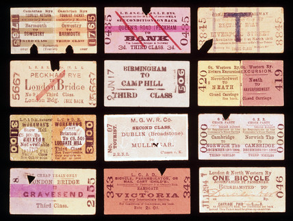 A selection of early railway tickets, c 1870-1920  at Science and
