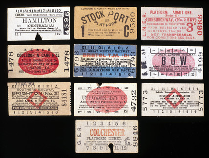 Selection of Edmondson type platform tickets, c 1920-1940.
