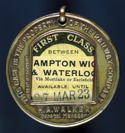 First clas season ticket, 1923. The ticket