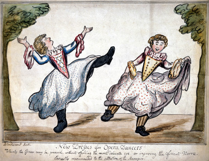 'New dreses for opera dancers!', c 1800.