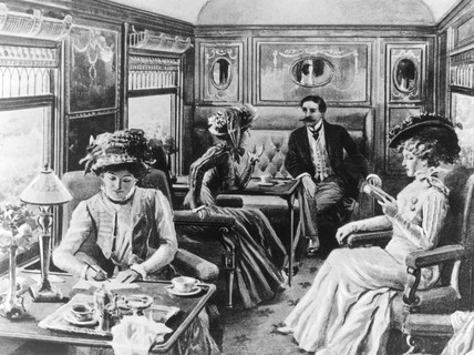 Interior of Pullman car 'Belgravia', 19th
