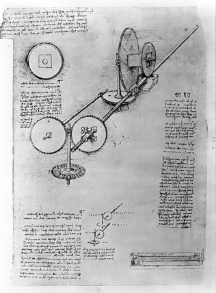 Design for Rolling-Mill by Leonardo da Vinci, 15th century.