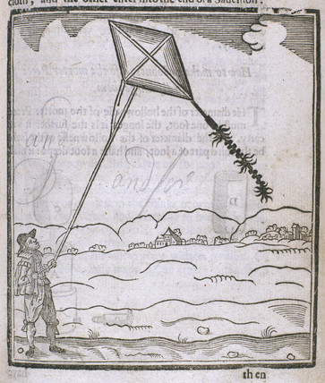 Earliest British representation of a kite,