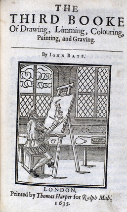 Artist painting at an easel, 1635.