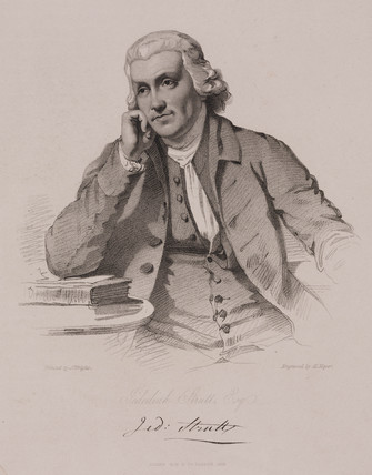 Jedediah Strutt, English entrepreneur and industrialist, c 1760s.