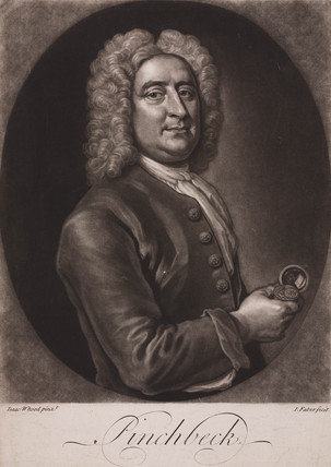 Christopher Pinchbeck, English clockmaker and toymaker, c 1725.