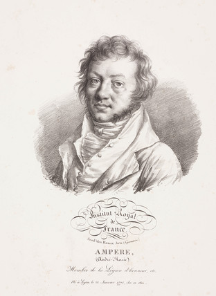 Andre-Marie Ampere, French physicist and mathematician, c 1820.