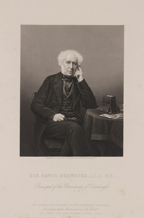 Sir David Brewster, Scottish physicist, c 1860.