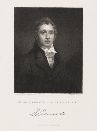 Sir David Brewster, Scottish physicist, 1834.