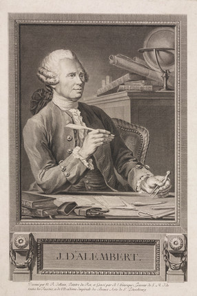 Jean le Rond d'Alembert, French mathematician and philosopher, c 1760s.