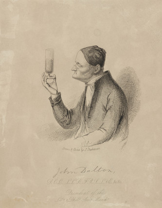 John Dalton, English chemist, c 1820s.