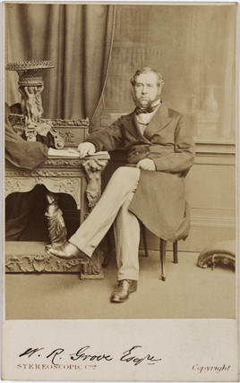 Sir William Robert Grove, lawyer and physicist, c 1860.