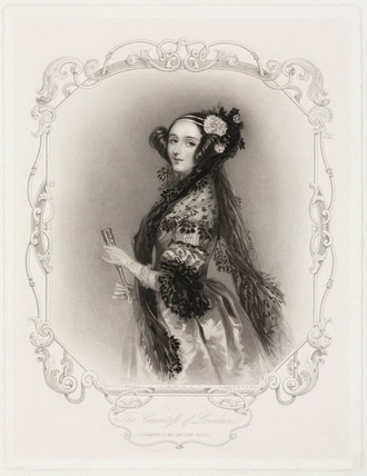 Ada King, Countes of Lovelace, 1840.