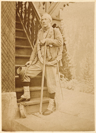 Portrait of an unknown mountaineer, 19th century.