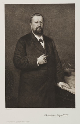 Nikolaus August Otto, German engineer, c 1870s.