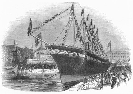 Launch of  s 'Great Britain', 1843.