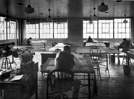 NACA drafting room, Langley Research Center, USA, 1 January 1961.