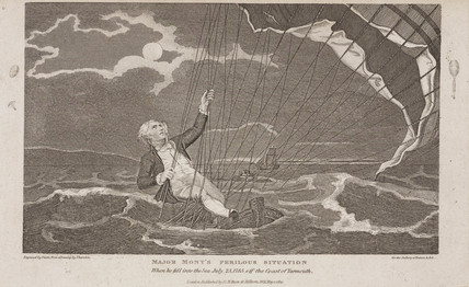 'Major Mony's (sic) Perilous Situation', July 1785.