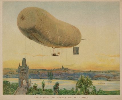 'The Parseval III: German Military Airship', 1909.