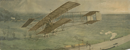 'The London to Manchester Flight', 1910.