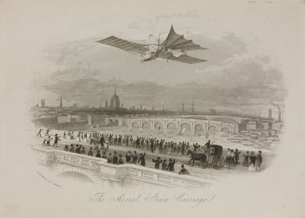 'The aerial Steam Carriage', c 1842.