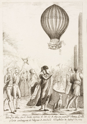 Lunardi's ascent in Madrid, Spain, 12 August 1792.