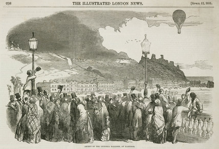 'Ascent of the Victoria Balloon, at Hastings', 12 April, 1851.